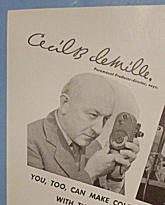 Vintage Ad: 1938 Bell & Howell Filmo W/cecil De Mille
