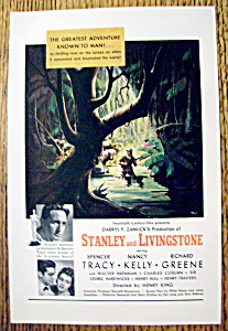 Vintage Ad: 1939 Stanley And Livingstone W/s. Tracy