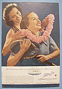 Vintage Ad: 1939 Matson Line To Hawaii (Image1)