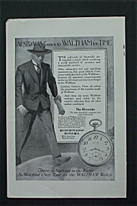 1917 Waltham Watch With Man Walking