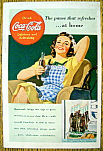 1939 Coca-cola (Coke) With Woman Relaxing