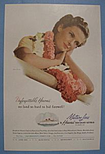 Vintage Ad: 1939 Matson Line To Hawaii (Image1)