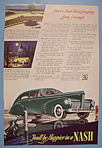 1940 Nash Automobile With Green Nash