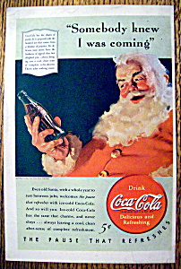 1940 Coca-Cola (Coke) with Santa Claus & Soda (Image1)
