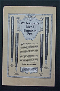 1917  Waterman's  Ideal  Fountain  Pen (Image1)
