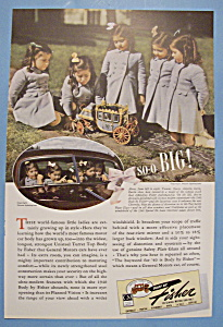 Vintage Ad: 1940 Body By Fisher w/ Dionne Quintuplets (Image1)