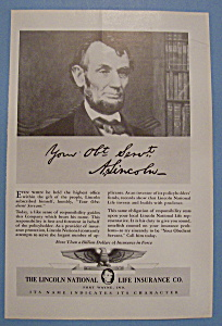 Vintage Ad: 1940 Lincoln National Life Insurance Co. (Image1)
