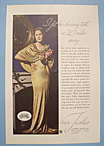 Vintage Ad: 1934 Body By Fisher (Image1)