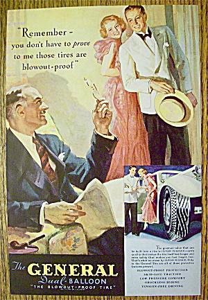 1935 General Dual Balloon Tires w/Man & Couple Talking (Image1)