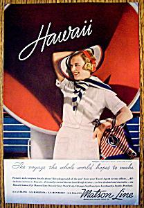 Vintage Ad: 1935 Matson Line (Image1)