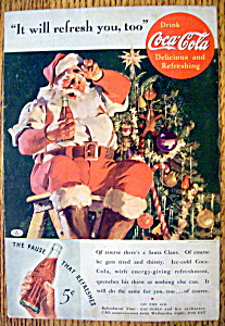 Vintage Ad: 1935 Coca-Cola (Coke) with Santa Claus (Image1)