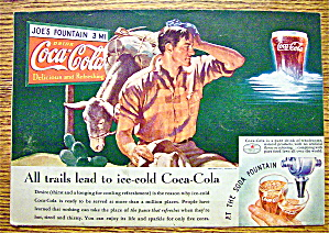 1935 Coca-cola (Coke) With Man Scratching His Head
