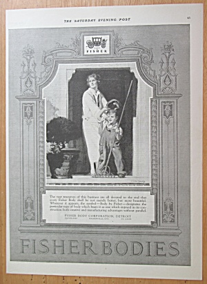 1923 Fisher Body with Woman & Little Boy  (Image1)