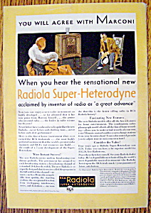 Vintage Ad: 1930 RCA Radiola Super-Heterodyne (Image1)