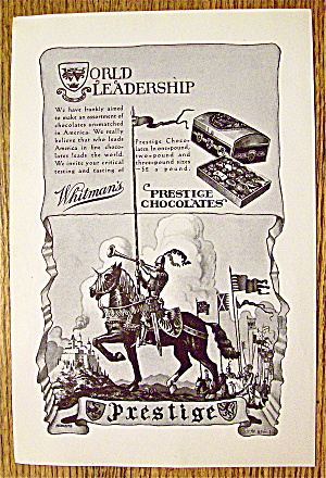 1930 Whitman's Prestige Chocolates with Knight On Horse (Image1)