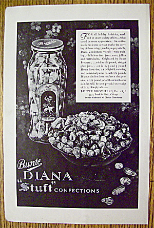 1930 Bunte Diana Stuft Confections With Jar Of Candy