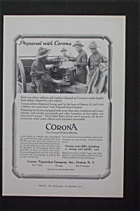 1916 Corona Typewriter Company with Soldiers  (Image1)