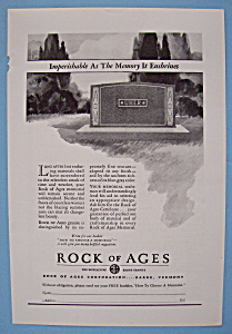 Vintage Ad: 1930 Rock Of Ages Corporation (Image1)