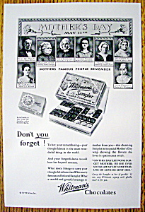 Vintage Ad: 1930 Whitman's Chocolates