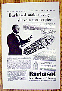 Vintage Ad: 1930 Barbasol With Vincent Lopez