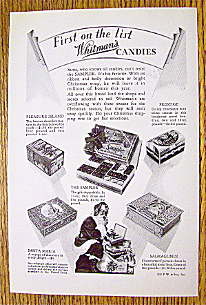 1930 Whitman's Candies with Santa Claus Eating Candy (Image1)