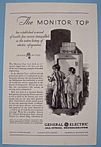 Vintage Ad: 1930 G E All - Steel Refrigerator (Image1)