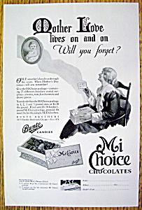 Vintage Ad: 1930 Mi Choice Chocolates (Bunte Candies) (Image1)