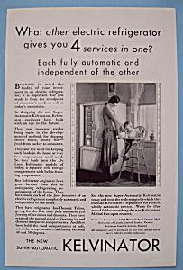 Vintage Ad: 1930 Kelvinator Refrigerator (Image1)