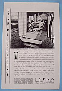 Vintage Ad: 1930 Japan Tourist Bureau (Image1)