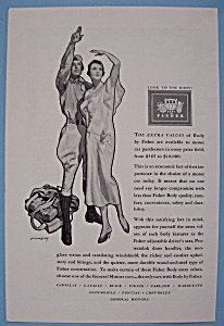 Vintage Ad: 1930 Body By Fisher By McClelland Barclay (Image1)