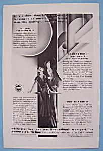 Vintage Ad: 1930 White Star Line (Image1)