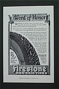 1916 Firestone Non-Skid Tires with Tire's Treads  (Image1)