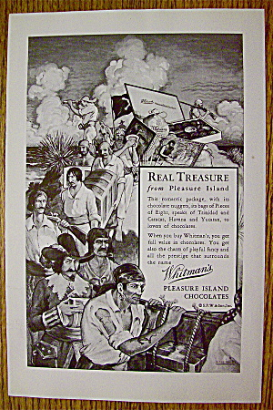 1930 Whitman's Pleasure Island Chocolates with Pirates (Image1)