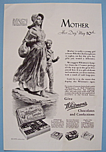 1931 Whitman's Chocolates With Mother & Child Walking