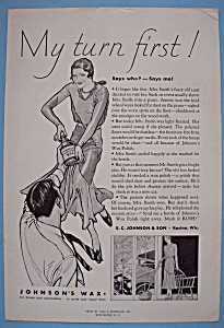 Vintage Ad: 1931 Johnson's Wax (Image1)