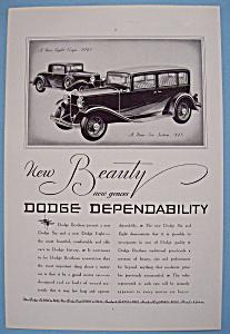 Vintage Ad: 1931 Dodge (Image1)