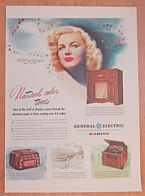 1946 General Electric Radio with June Haver  (Image1)