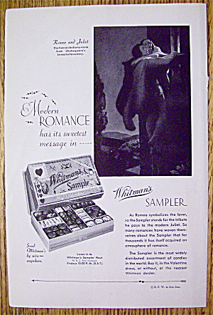 1932 Whitman's Sampler With Romeo & Juliet
