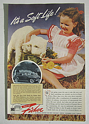 1941 Body By Fisher With Girl Feeding Her Sheep