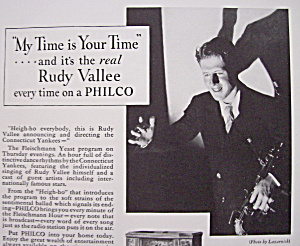 Vintage Ad: 1933 Philco With Rudy Vallee