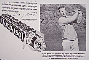 Vintage Ad: 1930 Barbasol With Craig Wood