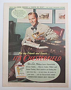 1944 Chesterfield Cigarettes W/bing Crosby-going My Way