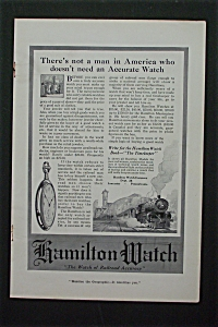 1916 Hamilton Watch With Train & Pocket Watch