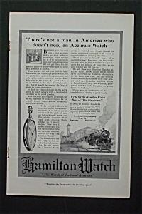 1916 Hamilton Watch with Train & Pocket Watch  (Image1)