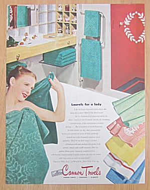 1946 Cannon Towels with Woman Wrapped in Towel (Image1)