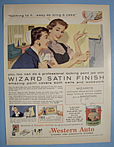 1956 Wizard Satin Finish Paint with Woman Painting Wall (Image1)