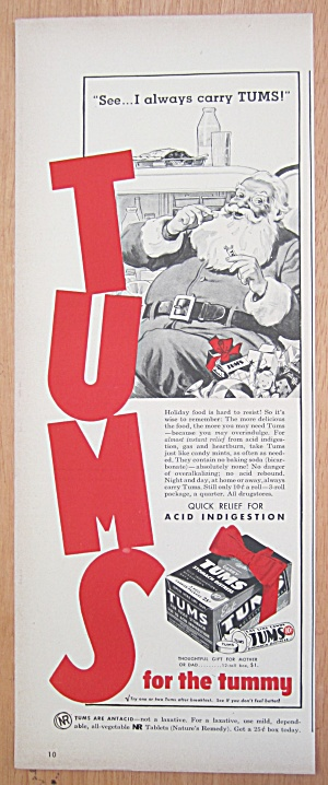 1940's Tums Stomach Distress with Santa Claus (Image1)