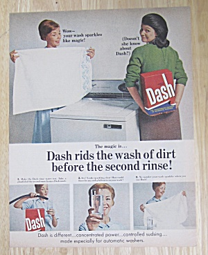 1967 Dash Laundry Detergent w/Woman & Detergent  (Image1)