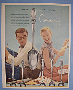 Vintage Ad: 1955 Community Silverware (Image1)