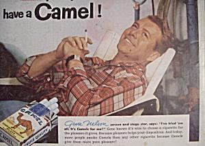 Vintage Ad: 1955 Camel Cigarettes w/Gene Nelson (Image1)